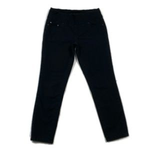 Jag Jeans High Rise Slim Ankle Black Pull On